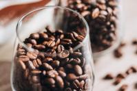 Coffee beans in glass picjumbo