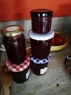 Confiture raisin pots