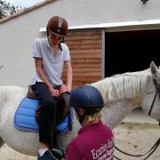 Horse riding getting ready