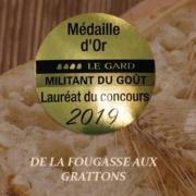 Medaille militant du gout 2019 fougasse aux grattons©boulangerie du moutas